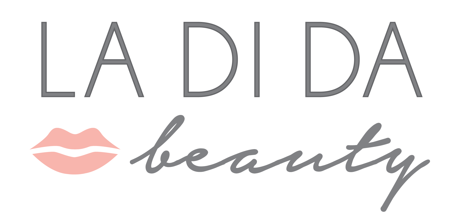 la-di-da-beauty-logo-gray-text-white-background